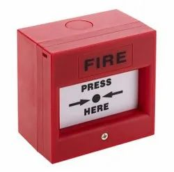 Plastic Red Fire Alarm System