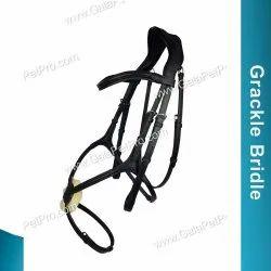 Black Genuine Leather Grackle Bridle