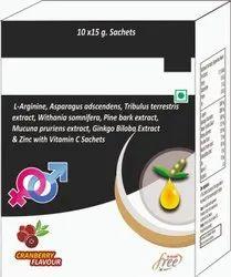 L-arginine, Asparagus Adscendens, Vitamin C Sachets