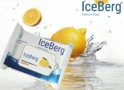 Ice berg Lemon Face Wet Wipes, Packaging Size: 25 Pull Pack, Packet
