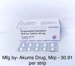 Propranolol Sustain Release Tablets 40 Mg