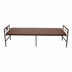 Powder Coated Iron Steel Supreme Bed Globus Brown, For Home, Size: 450 X 762 X 1828 Mm
