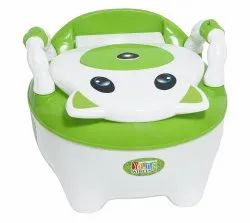Green Colored Baby Potty Seat With Armrest