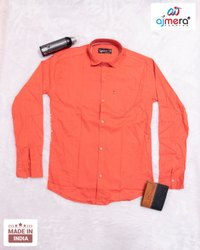 AJMERA Plain Men's Cotton Shirts