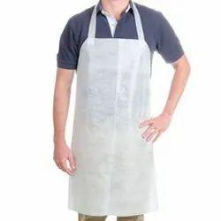 White Non Woven Kitchen Apron, Size: Large