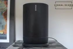 Sonos Move - Battery-Powered Smart Speaker, Wi-Fi and Bluetooth - Black