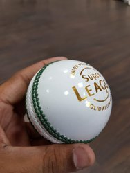 Chiya White Cricket Leather Ball League, Size: Full, 0.160
