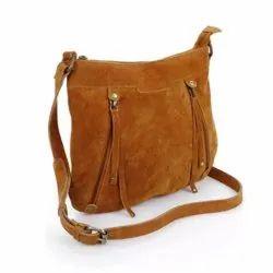 Brown Plain MBE/Bg/516 Ladies Leather Bag