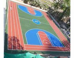 Outdoor Matte Sports Flooring, For Basketball Court, 25mm