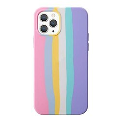 Silicone iPhone 11 Rainbow Coloured Soft Silicon Back Cover