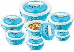 Cruise 7Pc Gift Set Plastic Insulated Hotpot Casserole Set
