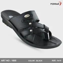 Multicolor PU Poddar Mens Casual Slipper, Size: 6*10
