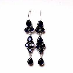 Garnet, Sapphire Gemstone Designer Earrings