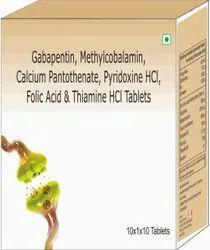 Gabapentin, Methylcobalamin, Calcium Pantothenate, Pyridoxine Hci, Folic Acid & Thiamine Hcl Tablets