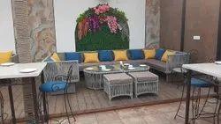 Outdoor Braid & Rope Sofa Set