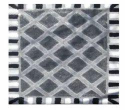Black White FAF00282 Shag Carpet