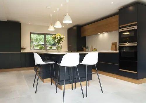 L Shape Residential Modular Kitchen Service
