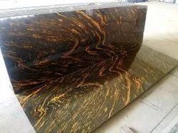Slab Polished Titanium Gold Granite, For Flooring, Thickness: 15-20 mm