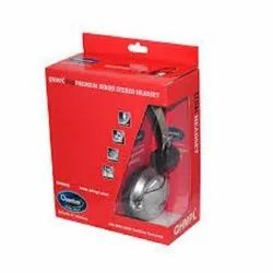 Black Over The Head Quantum QHM 862 Wired Headset With Mic