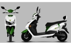 Prakriti White and Green Battery Operated Electric Scooter, Vehicle Model: Neo
