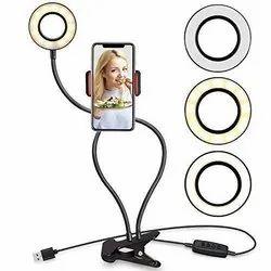 Professional Selfie Ring  Light   ( Mobile & Webcam) Holder Stand