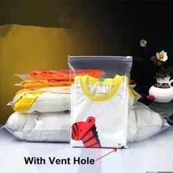 PE Clear Zipper Slider Bags For Garments, Socks, Cosmetics