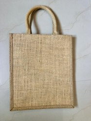 Naural Printed Jute Tote Bags, Size: 45 X 40 X 20cm