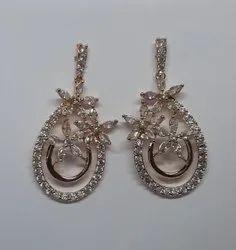 Brass ( Base) Wedding Wear Imitation Drop Earring