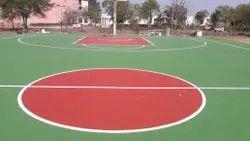 Modular Acrylic Basketball Court Construction