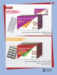 Glimepiride Voglibose and Metformin HCl SR Tablets