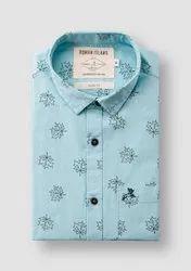 next look CHECKS,PRINTED Cotton Casual Wear Men's Designer Readymade Shirt, Handwash
