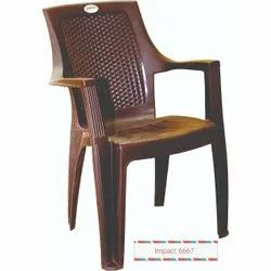 Brown Mid Back Plastic Chair