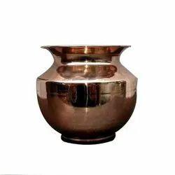 Plain Round 500ml Copper Lota, For Home