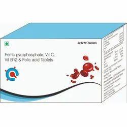 Ferric Pyrophosphate, Vitamin C, Vitamin B12 & Folic Acid Tablets