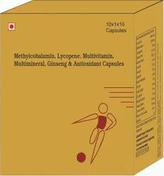 Methylcobalamin, Lycopene , Multivitamin, Multiminerals, Ginseng & Antioxidant Capsules