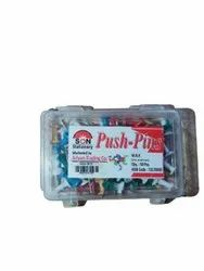 Plastic And SS Paper Push Pin, 50 Piece, Size: 1inch (length)