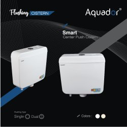 White Plastic Aquador Smart Dual Flushing Cisterns, For Toilet