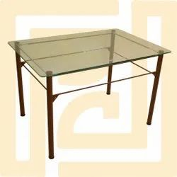 Rectangular MS Dining Table, For Home, 1 Year