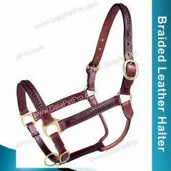 Braided Leather Halter