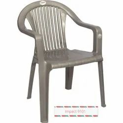 Grey Plastic Visitor Chair