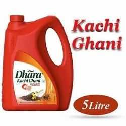 Red Dhara Kacchi Ghani Oil, Packaging Type: Plastic Container, Packaging Size: 5 litre