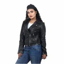 Full Sleeve Black MBE/ Biker Leather Jacket