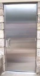 Gray Hinged Stainless Steel Acoustic Door, For Hospital