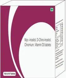 Myo-insoitol, D-chiro-inositol, Chromium, Vitamin D3 Tablets