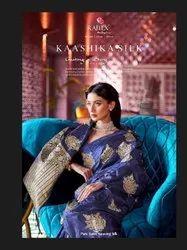 Festive Wear Pure Satin Nylon Weaving Raj Tex Kaashika Silk Presents By Saree Without Blouse Piece