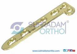 2.4/2.7mm LCP L Dorsal Distal Radius Locking Plate 2 Hole Head