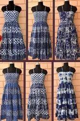INDIGO STRIP LONG DRESS