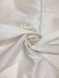 Plain White Linen Silk Fabric, GSM: 50-100