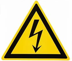 Yellow Triangle Label For Electrical Hazard Identification (2x 2)