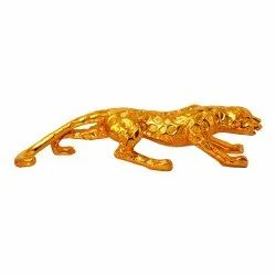 Gold Plated/ Matellic Look Panther Polyresin Statue